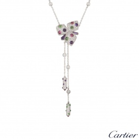 Cartier White Gold Caresse d'Orchidées Necklace